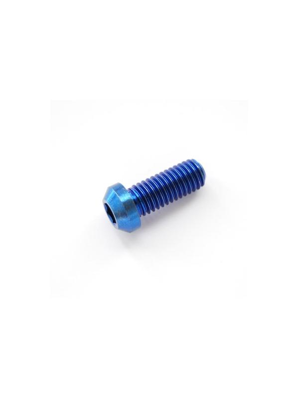 Boton M8x20 mm. de titanio gr. 5 (6Al4V). Anodizado azul - Boton M8x20 mm. de titanio gr. 5 (6Al4V). Anodizado azul