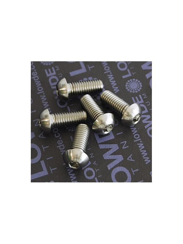 Boton M8x20 mm. de titanio gr. 5 (6Al4V). Diámetro cabeza: 14 mm. - Boton M8x20 mm. de titanio gr. 5 (6Al4V). Diámetro cabeza: 14 mm.