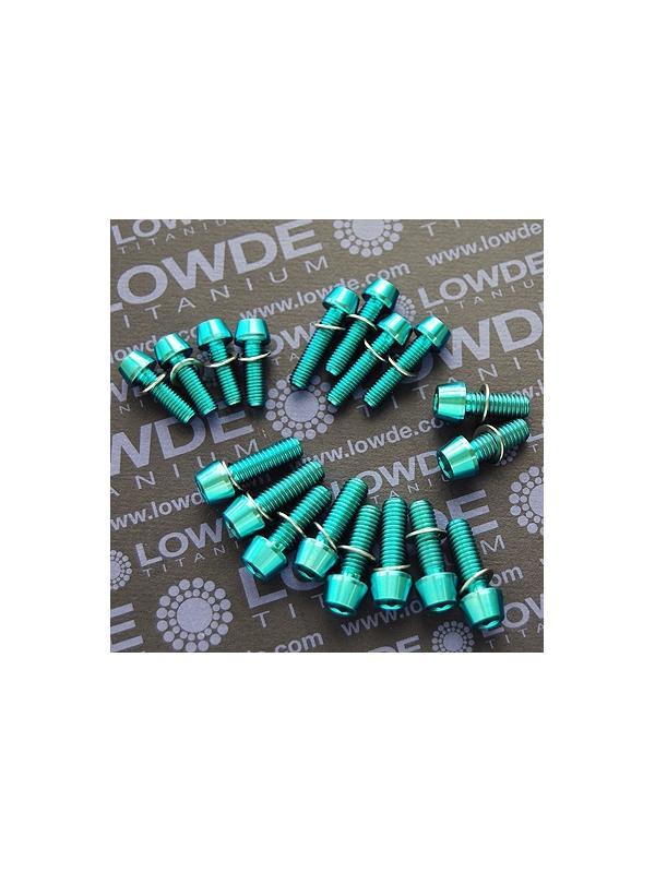 CANNONDALES FLASH CARBON 2012. Kit de 18 tornillos de TITANIO gr. 5 (6Al4V). Anodizados verde - CANNONDALES FLASH CARBON 2012. Kit de 18 tornillos de TITANIO gr. 5 (6Al4V). Anodizados verde