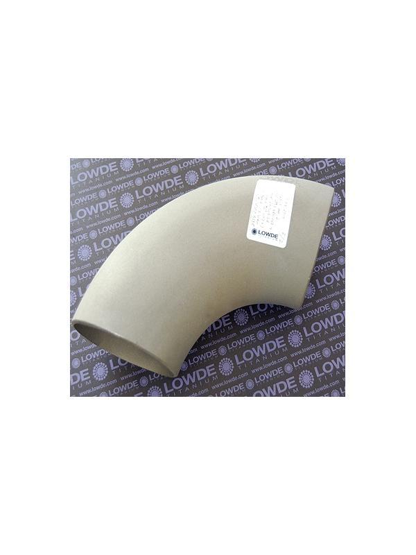Codo 90º de TITANIO gr. 2 ASME B16.9, ASTM B338 en diámetro 114,3 mm. - Codo 90º de TITANIO gr. 2 ASME B16.9, ASTM B338 en diámetro 114,3 mm. Grosor pared: 3 mm.