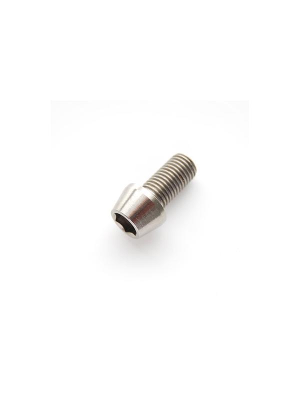 CÓNICO M10x1,25x20 titanio gr. 5 (6Al4V) - 1 Tornillo CÓNICO M10x20 mm. paso de rosca de 1,25, de titanio gr. 5 (6Al4V).