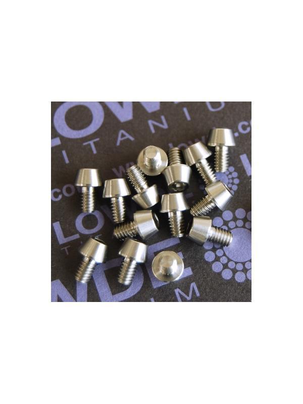 CÓNICO M4x6 titanio gr. 5 (6Al4V) - 1 Tornillo CÓNICO M4x6 mm. de titanio gr. 5 (6Al4V)