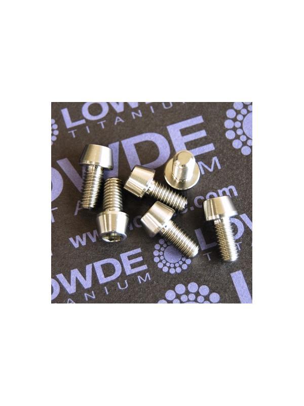 CÓNICO M5x10 titanio gr. 5 (6Al4V) - 1 Tornillo CÓNICO M5x10 mm. de titanio gr. 5 (6Al4V)
