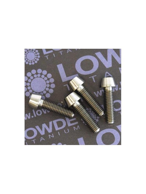 CÓNICO M5x18 titanio gr. 5 (6Al4V) - 1 Tornillo CÓNICO M5x18 mm. de titanio gr. 5 (6Al4V)