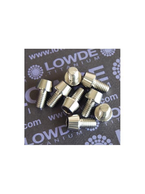CÓNICO M6x10 titanio gr. 5 (6Al4V) - 1 Tornillo CÓNICO M6x10mm. de titanio gr. 5 (6Al4V)