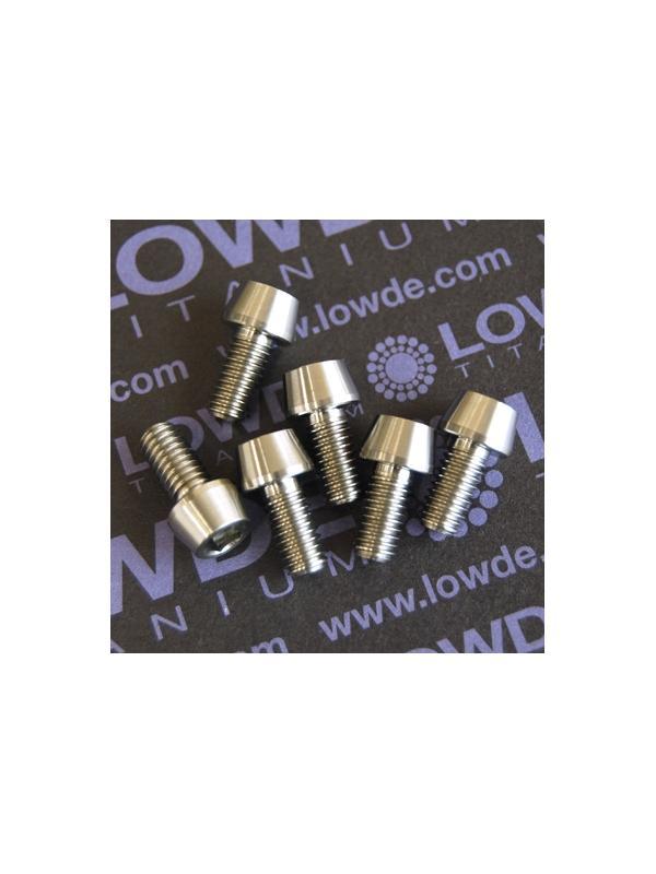 CÓNICO M6x12 titanio gr. 5 (6Al4V) - 1 Tornillo CÓNICO M6x12mm. de titanio gr. 5 (6Al4V)