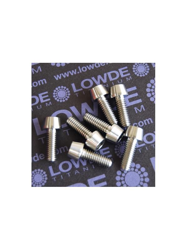 CÓNICO M6x16 titanio gr. 5 (6Al4V) - 1 Tornillo CÓNICO M6x16 mm. de titanio gr. 5 (6Al4V)