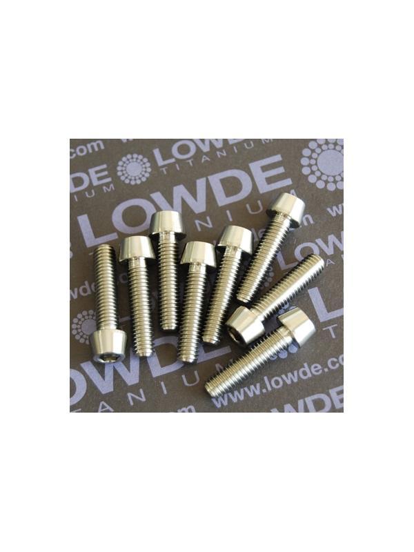 CÓNICO M6x25 titanio gr. 5 (6Al4V) - 1 Tornillo CÓNICO M6x25 mm. de titanio gr. 5 (6Al4V)