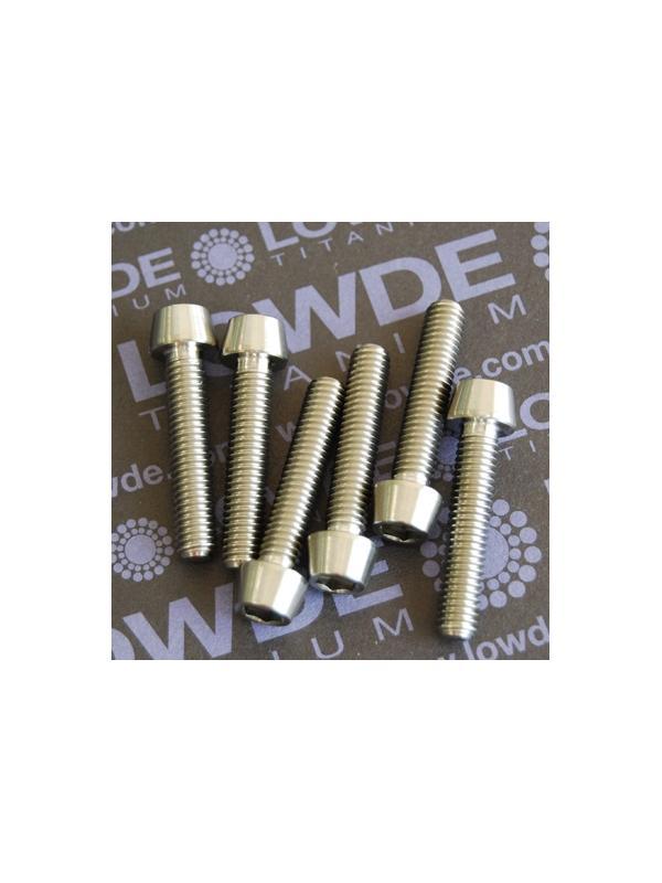 CÓNICO M6x30 titanio gr. 5 (6Al4V) - 1 Tornillo CÓNICO M6x30 mm. de titanio gr. 5 (6Al4V)