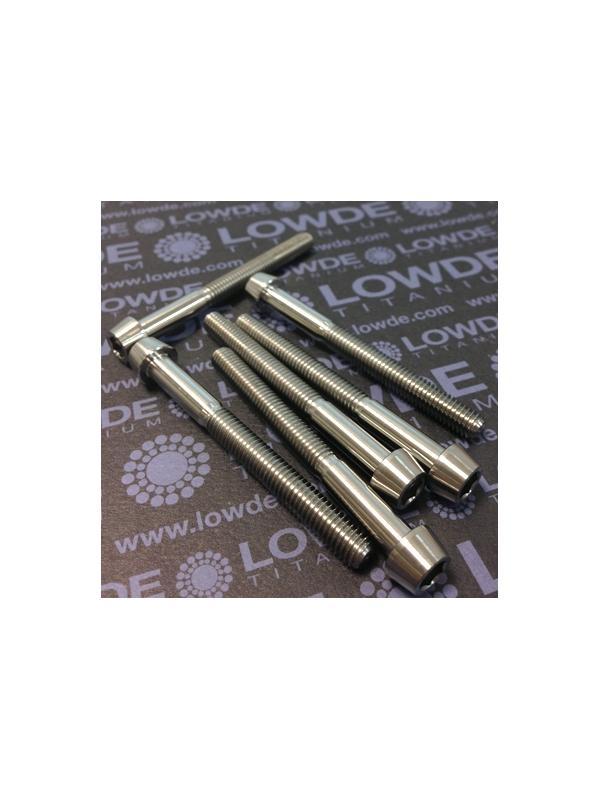 CÓNICO M6x60 titanio gr. 5 (6Al4V) - 1 Tornillo CÓNICO M6x60 mm. de titanio gr. 5 (6Al4V) Rosca 40 mm.