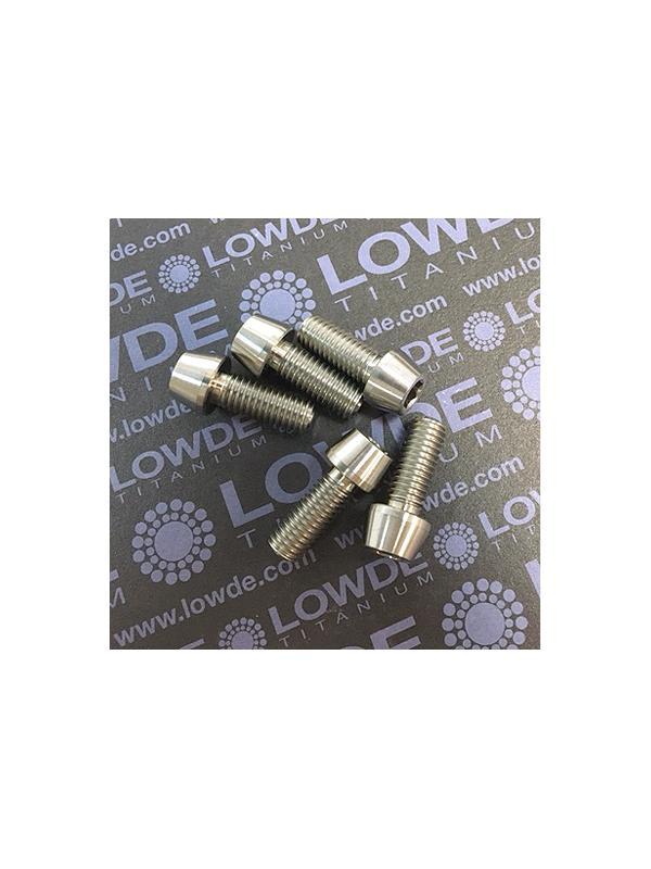 CÓNICO M8x20 titanio gr. 5 (6Al4V) - 1 Tornillo CÓNICO M8x20 mm. de titanio gr. 5 (6Al4V)