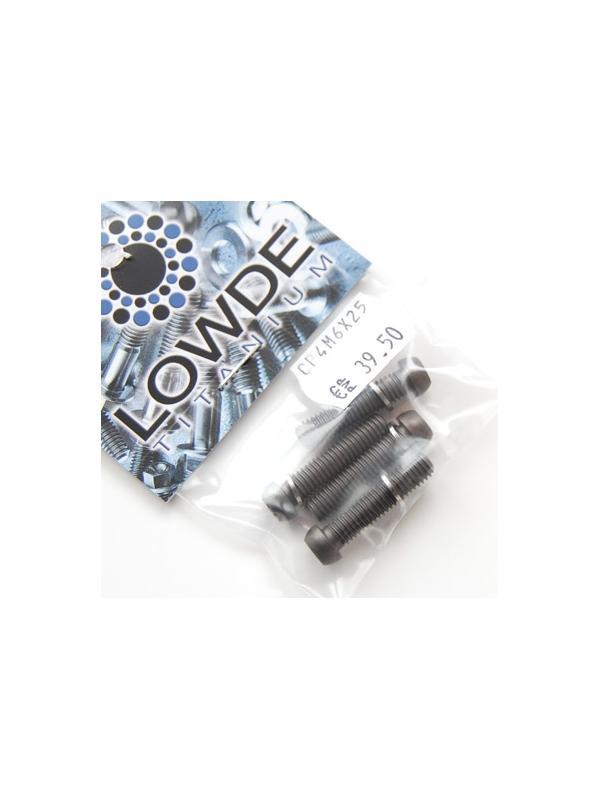 Kit 4 tornillos M6x25 llave torx de titanio gr. 5 con arandelas. Anodizados