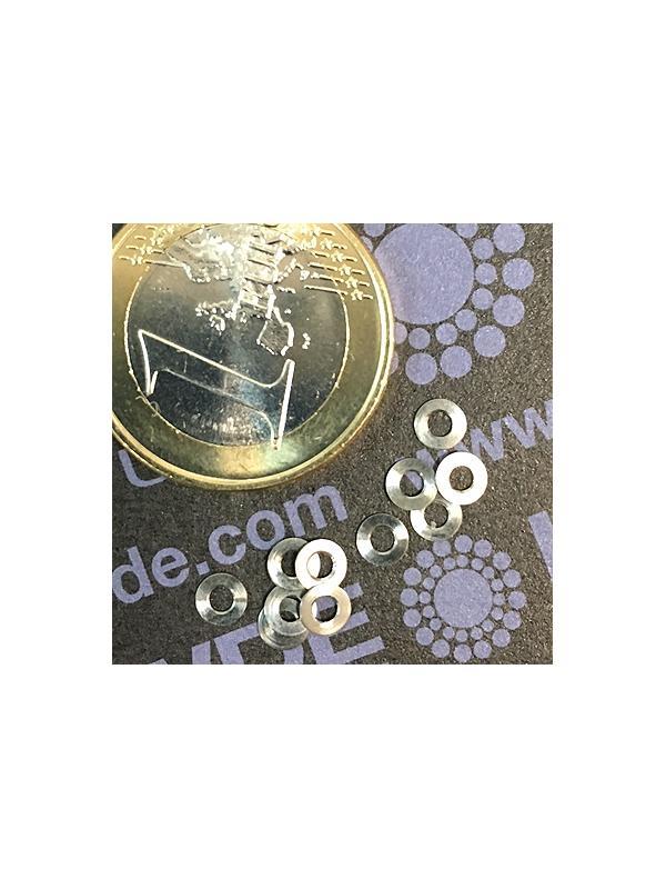 Arandela DIN 125 M1,6 de titanio grade 5 (6Al4V) - Arandela DIN 125 M1,6 de titanio grade 5 (6Al4V)