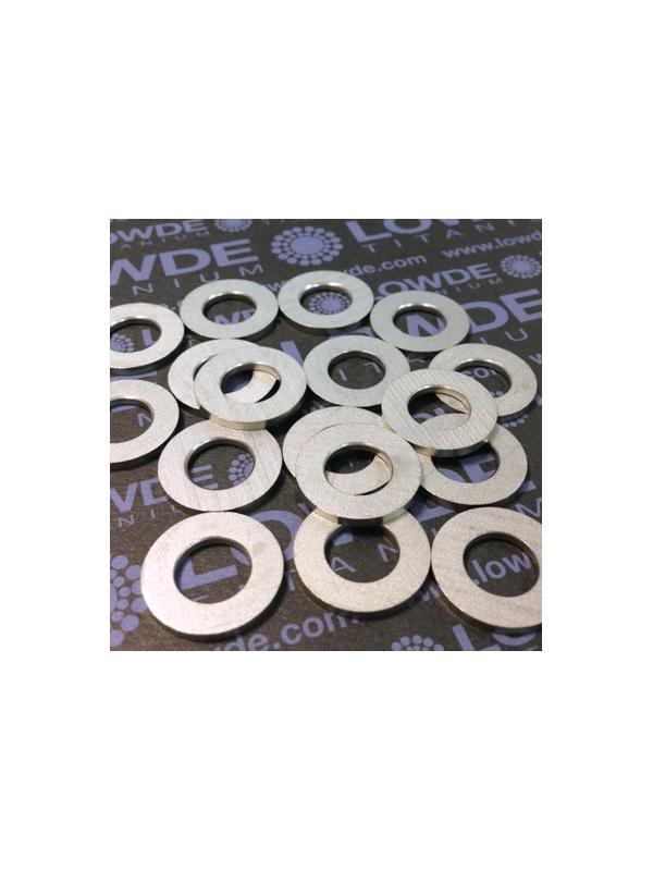 Arandela DIN 125 M10 titanio gr. 5 (6Al4V) Estampada - Arandela DIN 125 M10 titanio gr. 5 (6Al4V) Estampada de plancha