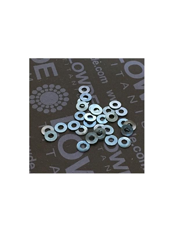 Arandela DIN 125 M2 titanio gr. 5 (6Al4V). Anodizada azul - Arandela DIN 125 M2 titanio gr. 5 (6Al4V). Anodizada azul