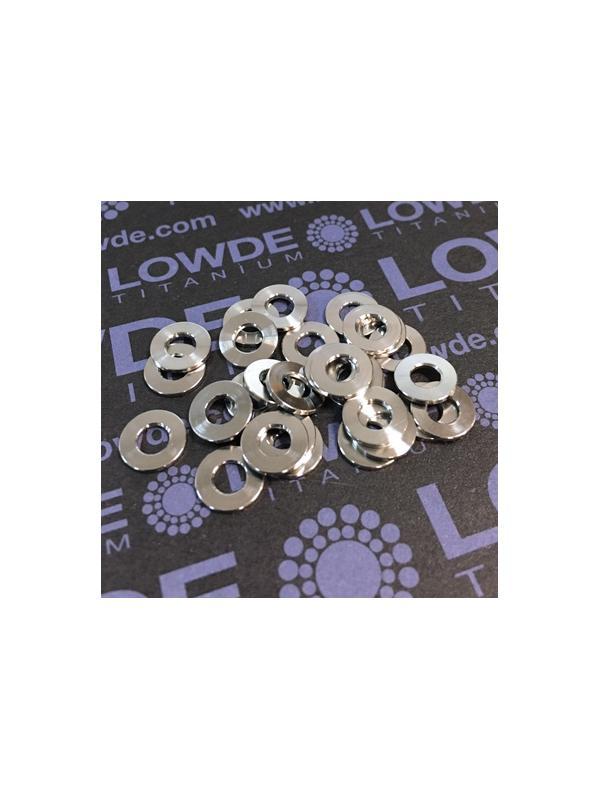 Arandela DIN 125 M4 titanio gr. 5 (6Al4V) - Arandela DIN 125 M4 titanio gr. 5 (6Al4V)
