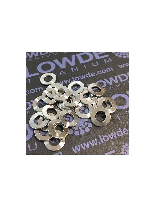 Arandela DIN 125 M5 titanio gr. 5 (6Al4V) - Arandela DIN 125 M5 titanio gr. 5 (6Al4V)