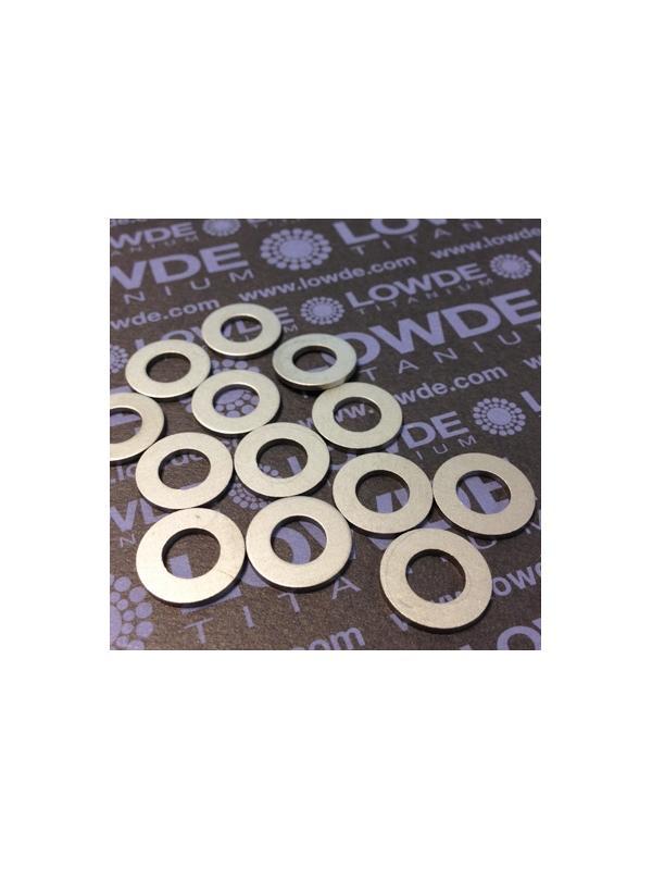Arandela DIN 125 M8 titanio gr. 5 (6Al4V). Estampada - Arandela DIN 125 M8 titanio gr. 5 (6Al4V)