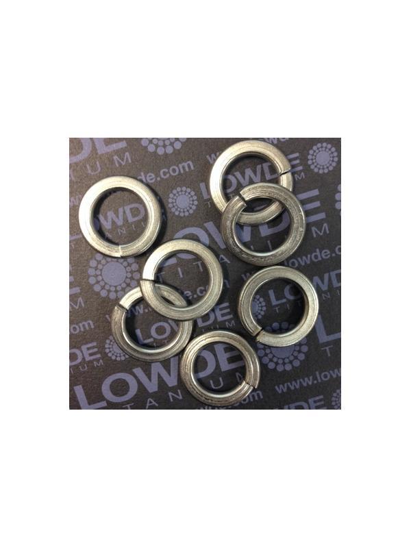 Arandela de presión DIN 127 M16 titanio gr. 2  - Arandela de presión DIN 127 M16 titanio gr. 2