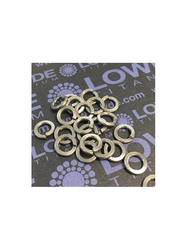 Arandela DIN 127 M5 de titanio gr. 2 (puro) - Arandela DIN 127 M5 de titanio gr. 2 (puro)