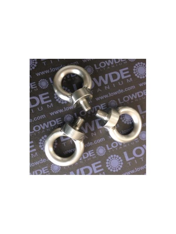 Cáncamo DIN 580 M8 de titanio gr. 5 (6Al-4V) - DIN 580 M8 de titanio grado 5 (6Al-4V). Cáncamo.