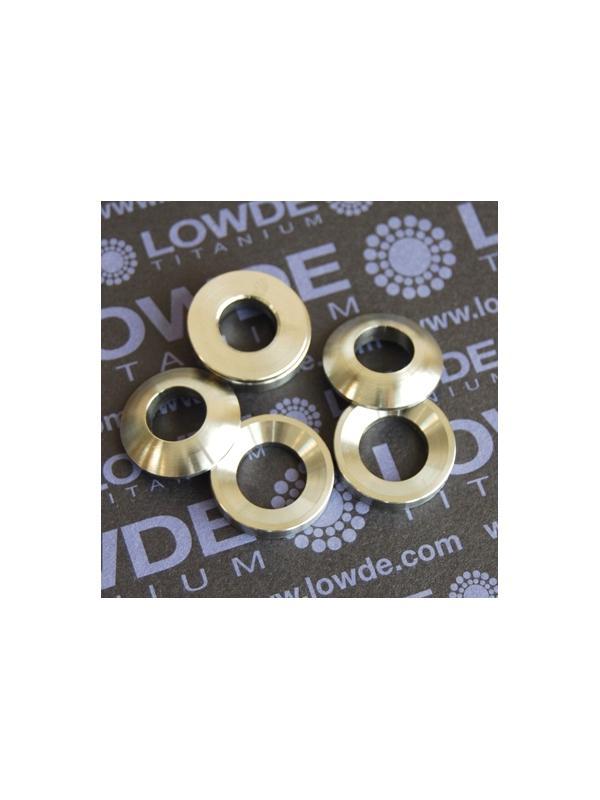 Arandelas esféricas DIN6319 M10 de titanio gr. 5 (6Al4V) - Arandelas esféricas DIN6319 M10 de titanio gr. 5 (6Al4V)