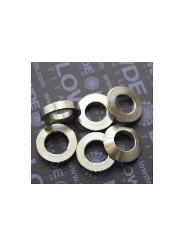 Arandelas esféricas DIN6319 M12 de titanio gr. 5 (6Al4V) - Arandelas esféricas DIN6319 M12 de titanio gr. 5 (6Al4V)