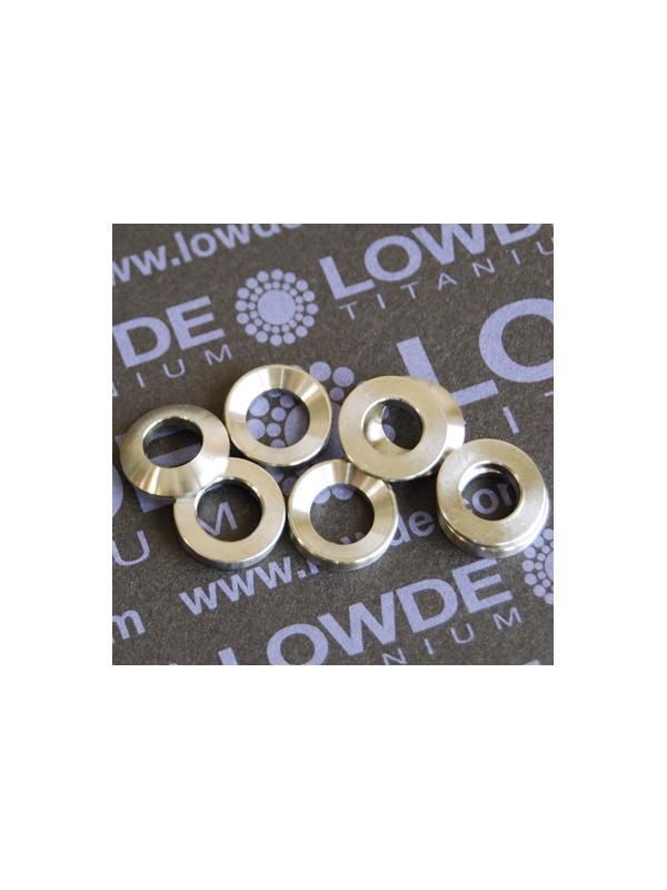 Juego arandelas esféricas DIN6319 M6 de titanio gr. 5 (6Al4V). En stock también M10 - Arandelas esféricas DIN6319 M6 de titanio gr. 5 (6Al4V)