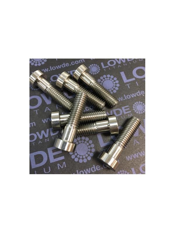 Tornillo DIN 6912 M8x30 mm. de titanio gr. 2 (puro) - Tornillo DIN 6912 (cabeza baja) M8x30 mm. de titanio gr. 2 (puro).