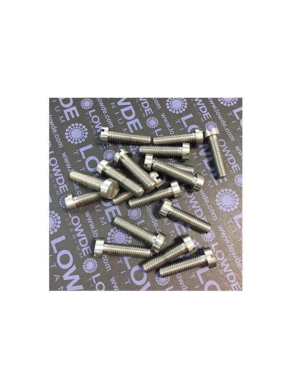 DIN 84 M8x30 mm. de titanio gr. 5 (6Al4V).  - DIN 84 M8x30 mm. de titanio gr. 5 (6Al4V). Destornillador plano