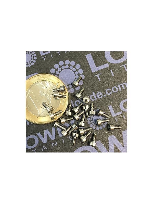 DIN 912 M1,6x4 titanio gr. 5 (6Al4V) - Tornillo DIN 912 M1,6x4 mm. de titanio gr. 5 (6Al4V)