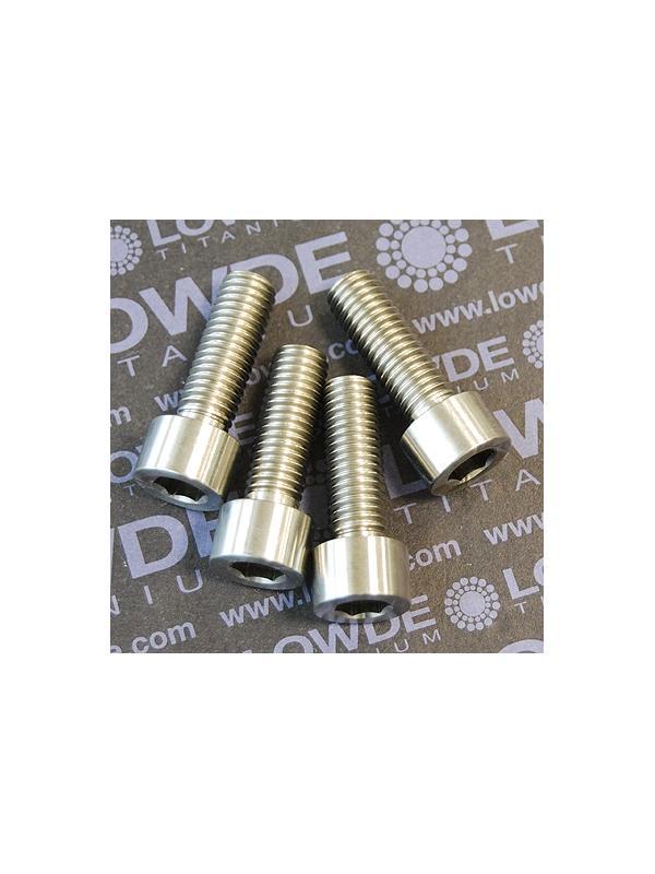 DIN 912 M8x30 titanio gr. 5 (6Al4V). Todo rosca. - Tornillo DIN 912 M8x30 mm. de titanio gr. 5 (6Al4V). Totalmente roscado.