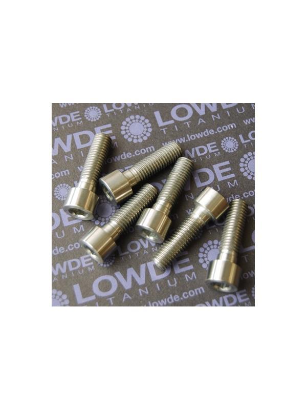 Tornillo DIN 912 M10x150x35 titanio gr. 5 (6Al4V) Rosca 28 mm. - Tornillo DIN 912 M10x150x35 titanio gr. 5 (6Al4V). Roscado 28 mm.