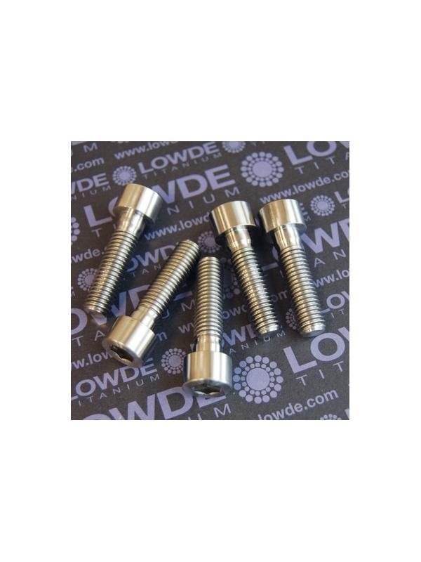 Tornillo DIN 912 M10x150x38 titanio gr. 5 (6Al4V) Rosca 30 mm. - Tornillo DIN 912 M10x150x38 titanio gr. 5 (6Al4V). Roscado 30 mm.