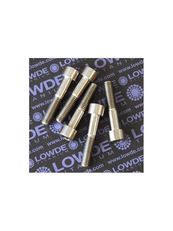 Tornillo DIN 912 M10x50 mm. de titanio gr. 2 (puro) - Tornillo DIN 912 M10x50 mm. de titanio gr. 2 (puro)