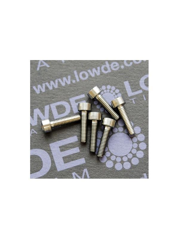 DIN 912 M2.5x10 titanio gr. 5 (6Al4V) - DIN 912 M2.5x10 titanio gr. 5 (6Al4V)