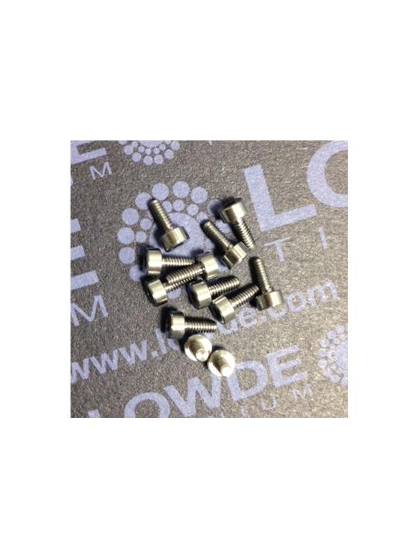 DIN 912 M2x5 titanio gr. 5 (6Al4V) - Tornillo DIN 912 M2x5 mm. de titanio gr. 5 (6Al4V)