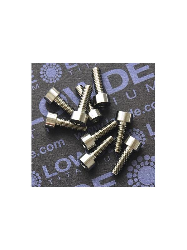 DIN 912 M4x12 titanio gr. 5 (6Al4V) - Tornillo DIN 912 M4x12 mm. de titanio gr. 5 (6Al4V).