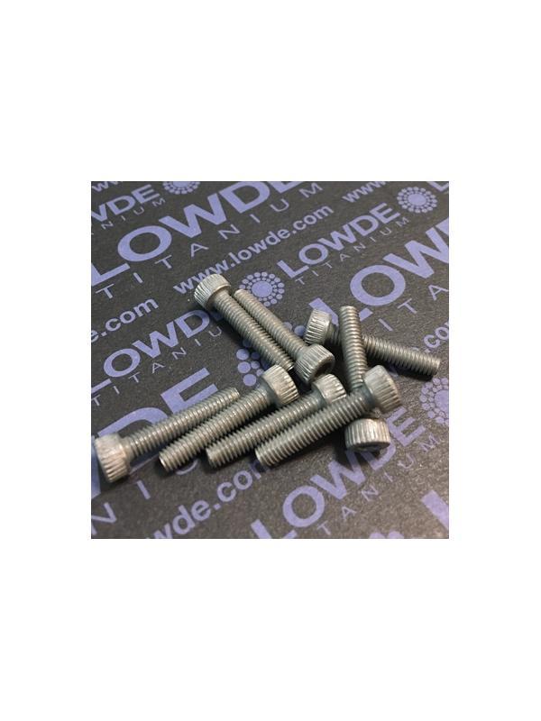 Tornillo DIN 912 M4x20 mm. de titanio gr. 2 (puro) - Tornillo DIN 912 M4x20 mm. de titanio gr. 2 (puro)