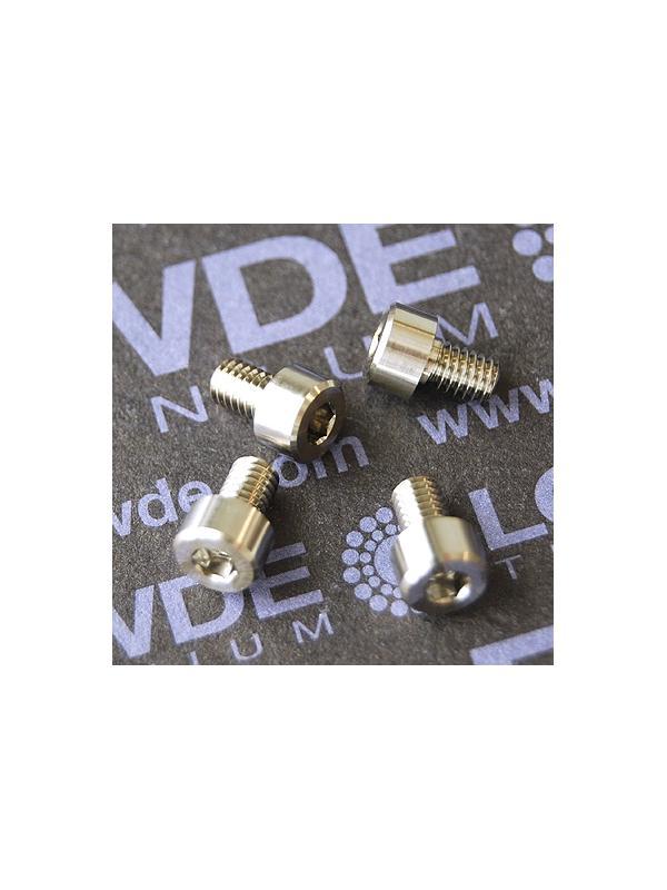 DIN 912 M4x6 titanio gr. 5 (6Al4V) - Tornillo DIN 912 M4x6 mm. de titanio gr. 5 (6Al4V)