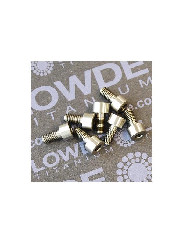 DIN 912 M4x8 titanio gr. 5 (6Al4V) - Tornillo DIN 912 M4x8 mm. de titanio gr. 5 (6Al4V)