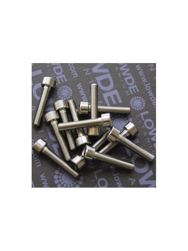 DIN 912 M5x25 titanio gr. 5 (6Al4V) - Tornillo DIN 912 M5x25 mm. de titanio gr. 5 (6Al4V)