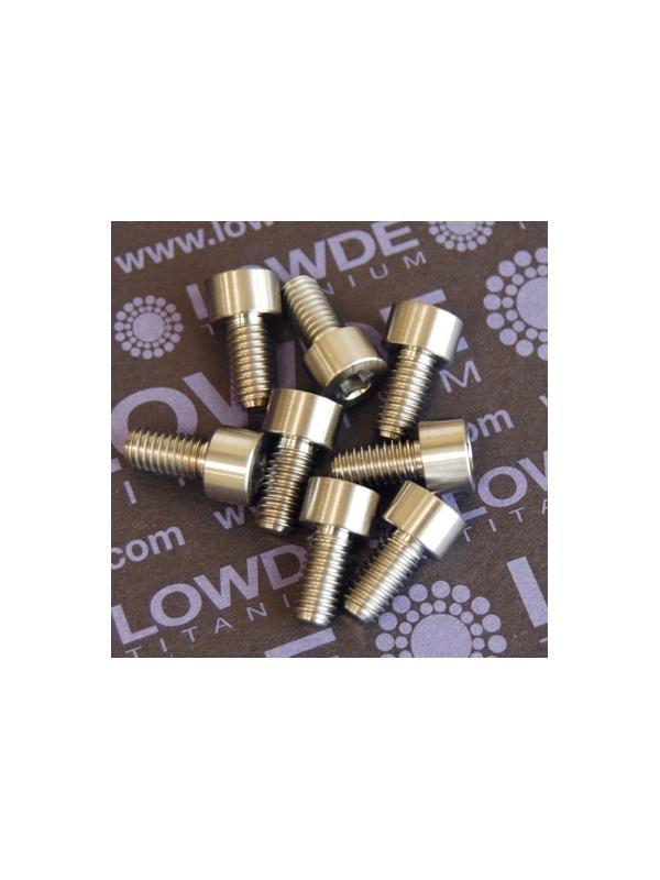 DIN 912 M6x12 titanio gr. 5 (6Al4V) - Tornillo DIN 912 M6x12 mm. de titanio gr. 5 (6Al4V)