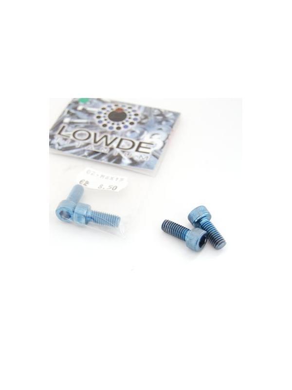 Bolsa 2 tornillos DIN 912 de titanio gr. 2 M6x15 anodizados color azul claro
