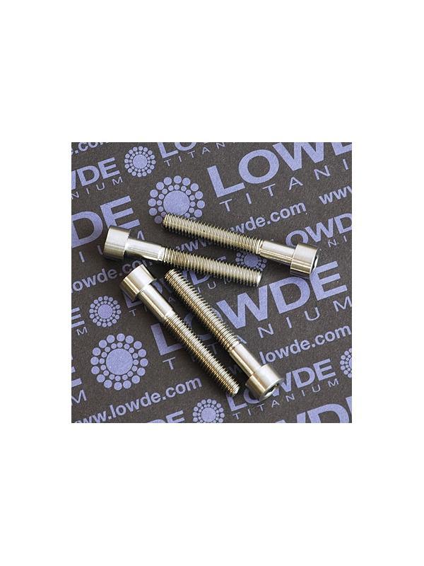 DIN 912 M6x40 titanio gr. 5 (6Al4V) - DIN 912 M6x40 titanio gr. 5 (6Al4V). Longitud rosca: 25 mm.