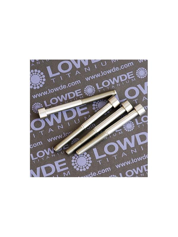 DIN 912 M6x60 titanio gr. 5 (6Al4V) - DIN 912 M6x60 titanio gr. 5 (6Al4V). Longitud roscada 30 mm.