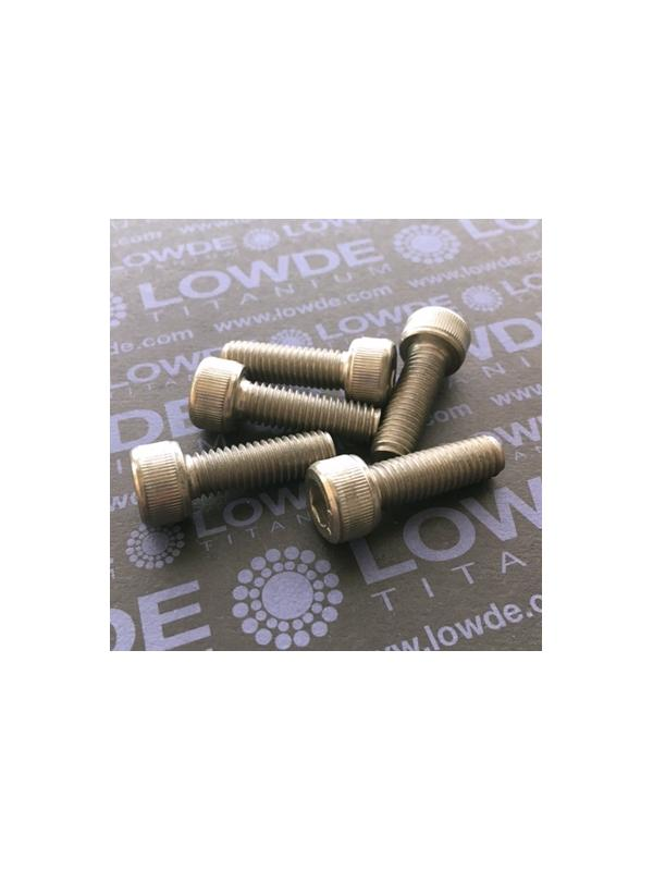 Tornillo DIN 912 M8x25 mm. de titanio gr. 2 (puro) - Tornillo DIN 912 M8x25 mm. de titanio gr. 2 (puro)