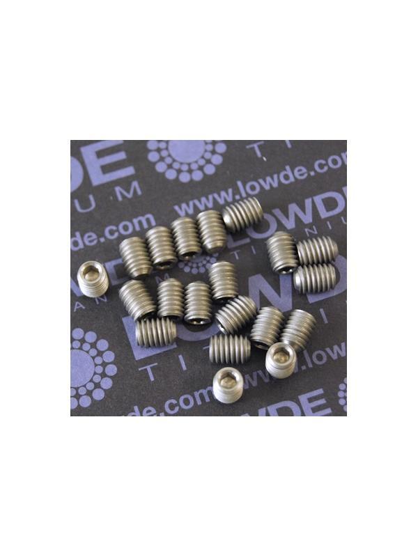 Espárrago prisionero DIN 916 M6x8 mm. de titanio gr. 2 - Espárrago prisionero DIN 916 M6x8 mm. de titanio gr. 2