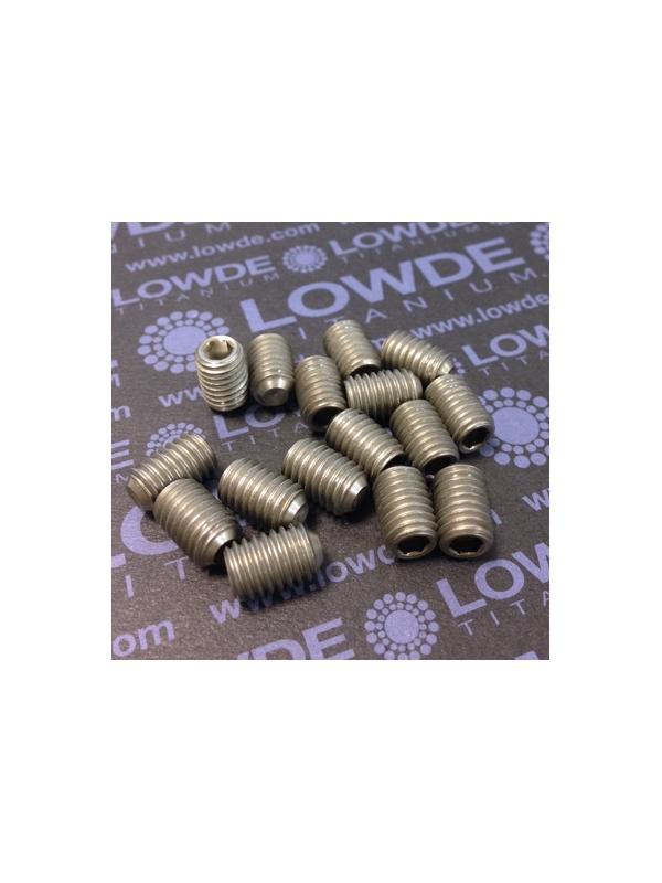 Espárrago prisionero DIN 916 M8x12 mm. de titanio gr. 2 - Espárrago prisionero DIN 916 M8x12 mm. de titanio gr. 2