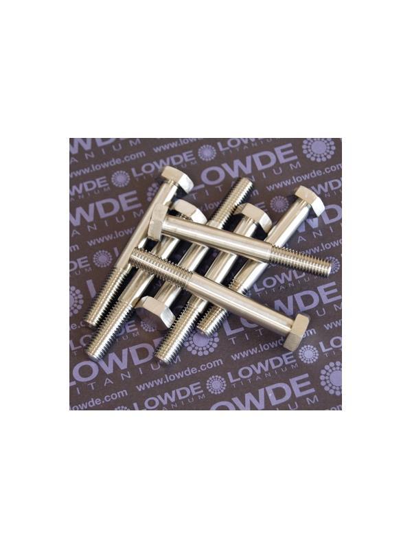 1 Tornillo DIN 931 M10x1,50x80 mm. de titanio gr. 5 (6Al4V). Roscado: 30 mm. - DIN 931 M10x80 mm. de titanio gr. 5 (6Al4V)